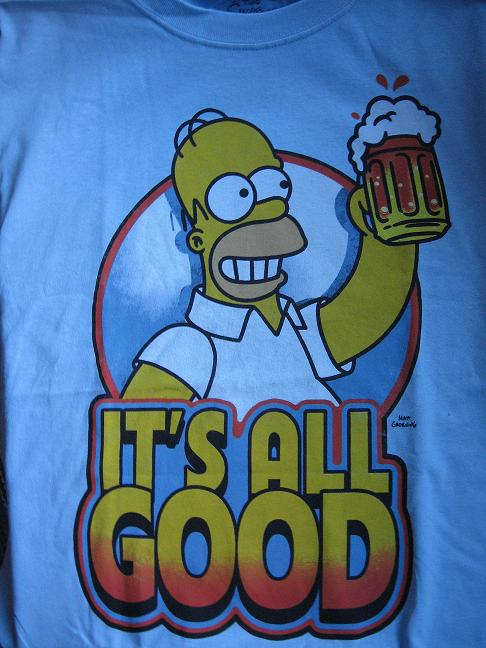 T-SHIRT. SIMSONS. It´s all good